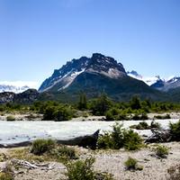 <strong>Patagonien mit unglaublich klare Luft und blauem Himmel</strong>
