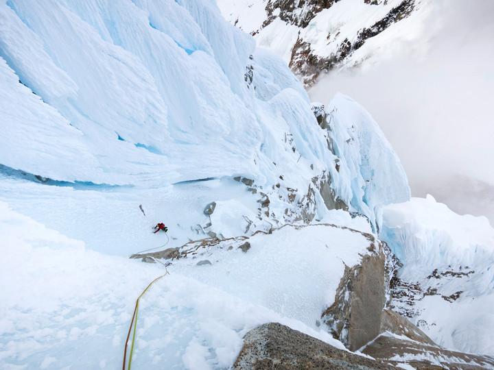 <strong><span>Ausdauernde Eiskletterei vom Feinsten,</span><span class=></span>Blick zurück - eine wilde Umgebung</strong><span class=>© Timo Moser</span>