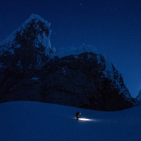 <strong>Im schein der Stirnlampe geht es zum Col de la Esperanza empor</strong>© Stefan Brunner