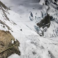 <strong>Blick zurück in die Schneerampe der Whillans-Cochrane</strong>
