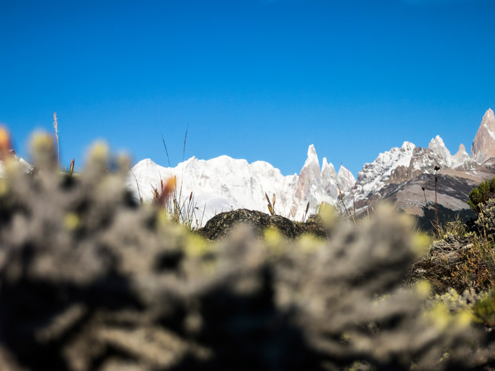 <strong>Der auf diesem Bild verspielt und etwas versteckt eingezeichnete Routenverlauf der Exocet auf den Cerro Standhardt</strong><span class=>© Timo Moser</span>