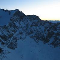 <span><span><strong>Abendstimmung am Eiskögele, Blick auf die Nordwand und den Kastengrat.</strong><span class=>© Wolfgang Wiesner</span></span></span>