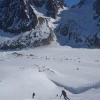 <strong>Auf den Glacier d'Argentière mit Blick aufs Col du Chardonnet</strong><span class=>© Felix Autor</span>