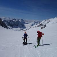 <strong>Am Col de la Serpentine nach langem Gletscherhatscher</strong><span class=>© Felix Autor</span>