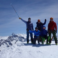 <strong>Am Gipfel des Pigne d'Arolla, der höchste Punkt der Haute Route erreicht!</strong><span class=>© Felix Autor</span>