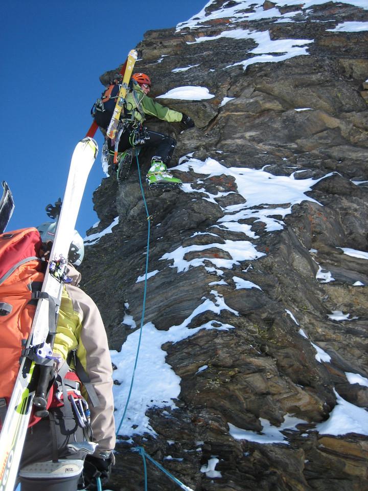 <span><strong>Einige steile Passagen mussten wir überwinden, mit Ski am Rücken sehr interessant.</strong><span class=>© Wolfgang Wiesner</span></p> <p></span>