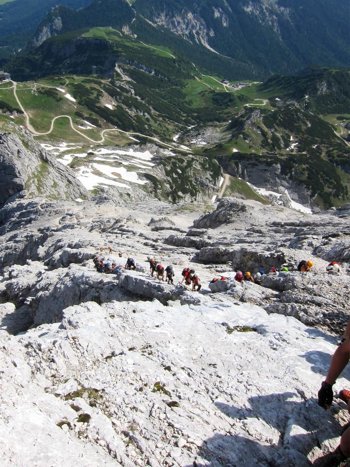 <strong>Staugefahr am Alpspitzklettersteig - von Einsamkeit und Erholungswert kaum eine Spur</strong><span class=>© Timo Moser</span>