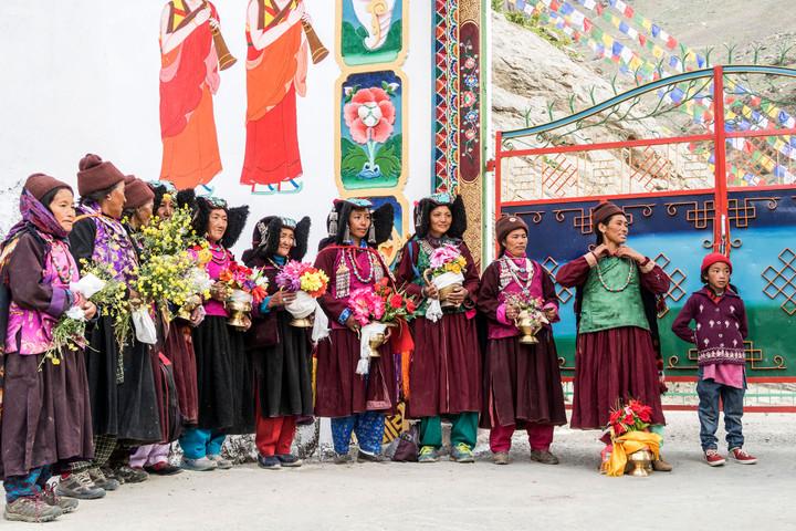<strong>Traditionelle Tracht der Ladakhi-Frauen</strong><span></span><span class=>© Timo Moser</span>
