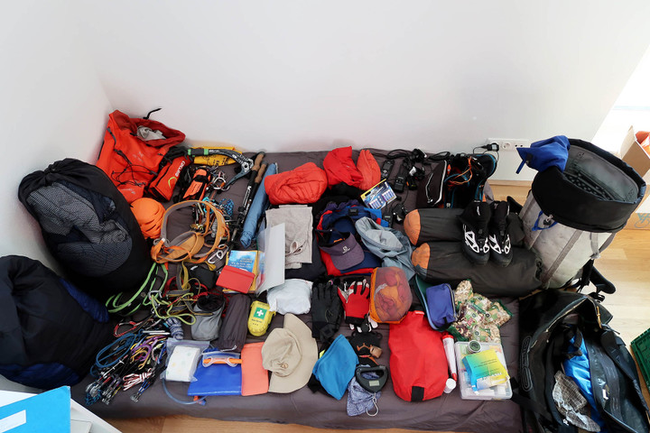 <strong>Expedition = Materialschlacht.</strong><span></span><span class=>© Timo Moser</span>