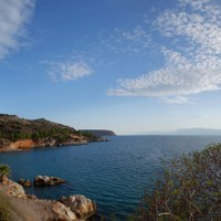 <strong>Wunderschöne Bucht bei Nafplio mit Klettermöglichkeiten direkt am Meer</strong><span class=>© Felix Autor</span>