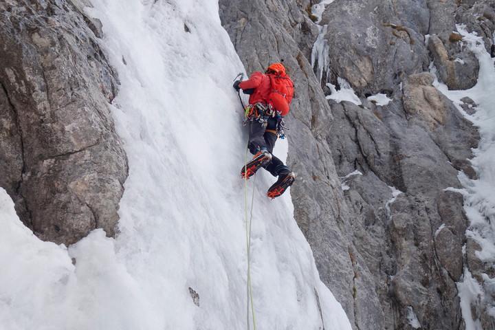 <span><strong>Timo in der ersten Seillänge unserer Route.</strong></span><span class=>© Felix Autor</span><span></span>