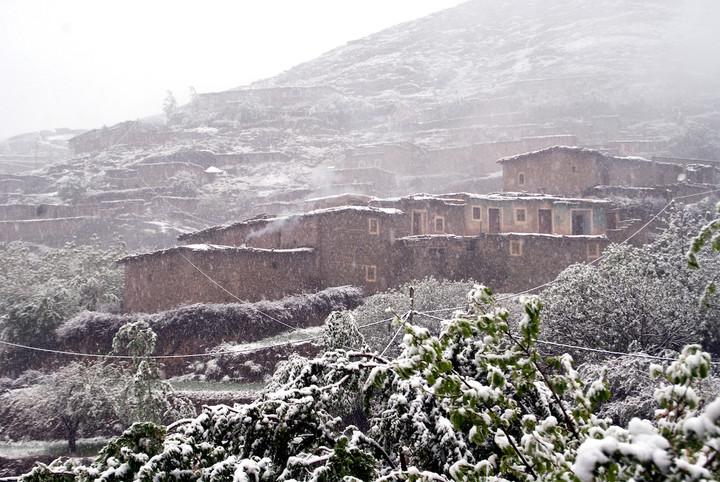 <strong>Am dritten Tag unseres Aufenthalts in Taghia zwingt uns Schneefall zu einem ersten Rasttag - Das hatten wir ehrlich gesagt nicht erwartet.</strong><span class=>© Stefan Leitner</span>