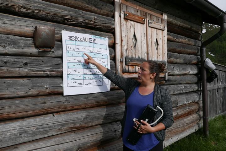 <strong>Der Seckauer - ein etwas anspruchvollerer Jodler - wurde gleich am ersten Tag ausprobiert</strong>.© Stefanie Lettner