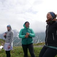 <strong>Jodeln vor Freude - der Gipfel des Kreuzecks wurde erreicht!</strong>© Stefanie Lettner