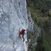 <span><strong>Zweite Seillänge lässt bis zum Stand nicht aus</strong><span class=>© Timo Moser</span></span>