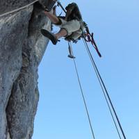 <span><strong>Vierte Seillänge</strong><span class=>© Timo Moser</span></span>