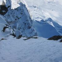 <span><strong>Blick in die Wand (Foto von einer Skitour zuvor)</strong><span class=>© Timo Moser</span></span>