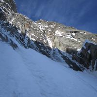 <span><strong>Hier beginnt der Gully mit dem Steilaufschwung ganz oben</strong><span class=>© Timo Moser</span></span>