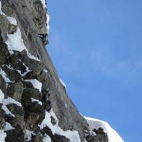 <span><strong>Ganz oben richtige Kletterei</strong><span class=>© Berni Egger</span></span>