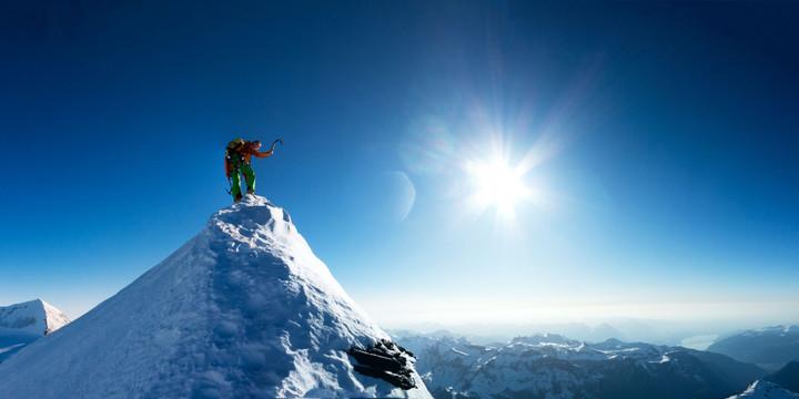 <strong>Roli auf den letzten Metern zum Gipfel am Mittellegigrat</strong>