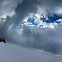 <span>Wolkenstimmung beim Rückweg.</span>