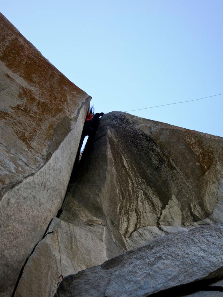 <span><strong>Kurz vor der totalen Versenkung in den Riss</strong>©Timo Moser</span>