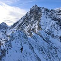 <span>Weiterweg am Rücken zur Blaueisspitze</span>