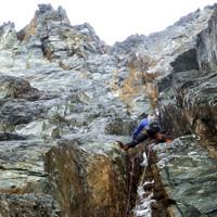 Lässige Mixedlänge im Anschluss in der Steilen Wand