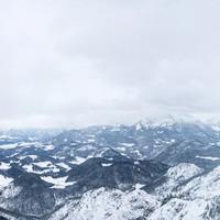 Panorama über das Berchtesgadener und Salzburger Land im Winter