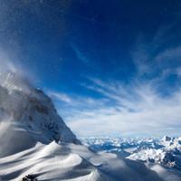 Schneewirbel bei der Watzmann Überschreitung