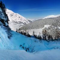 Die Landschaft im Rauristal ist Wunderbar - Leider oder zum Glück scheint einem beim Eisklettern nicht die Sonne auf den Kopf