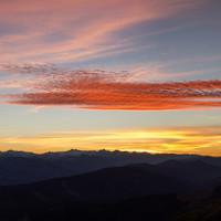Sonnenuntergang in sagenhaften Farben