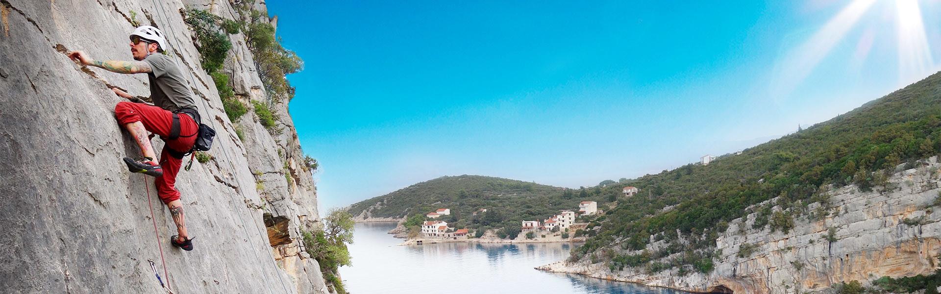 Klettern in Kroatien am Meer