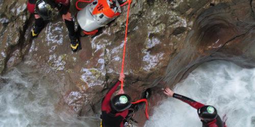 Canyoning-Gruppe Seisenbergklamm
