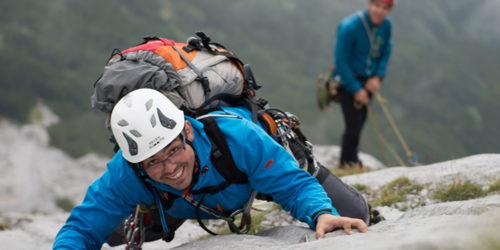 Kletterer im alpinen Gelände