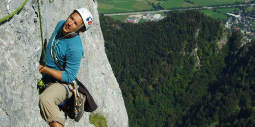 Alpinkletterei am Untersberg