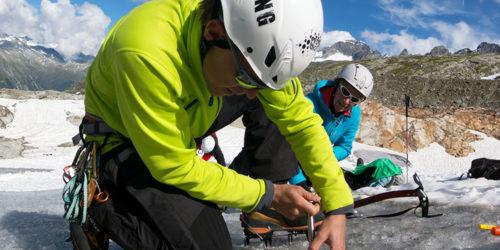 Bergsteiger auf Gletscher