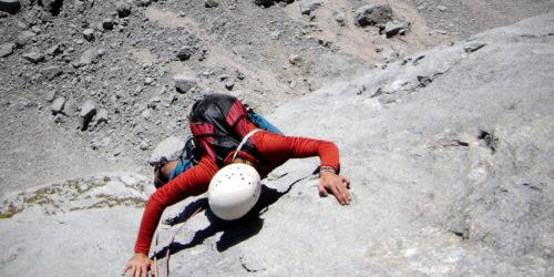 Kletterer am Flachfeld