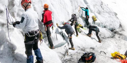 5 Bergsteiger Hochtourenkurs Aufbau