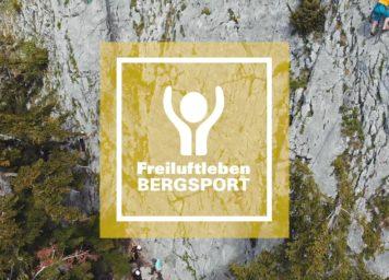 Teaser zu der Videoreihe Freiluftleben Bergsport. Die Videos stellen unser Programm im Bergsport vor